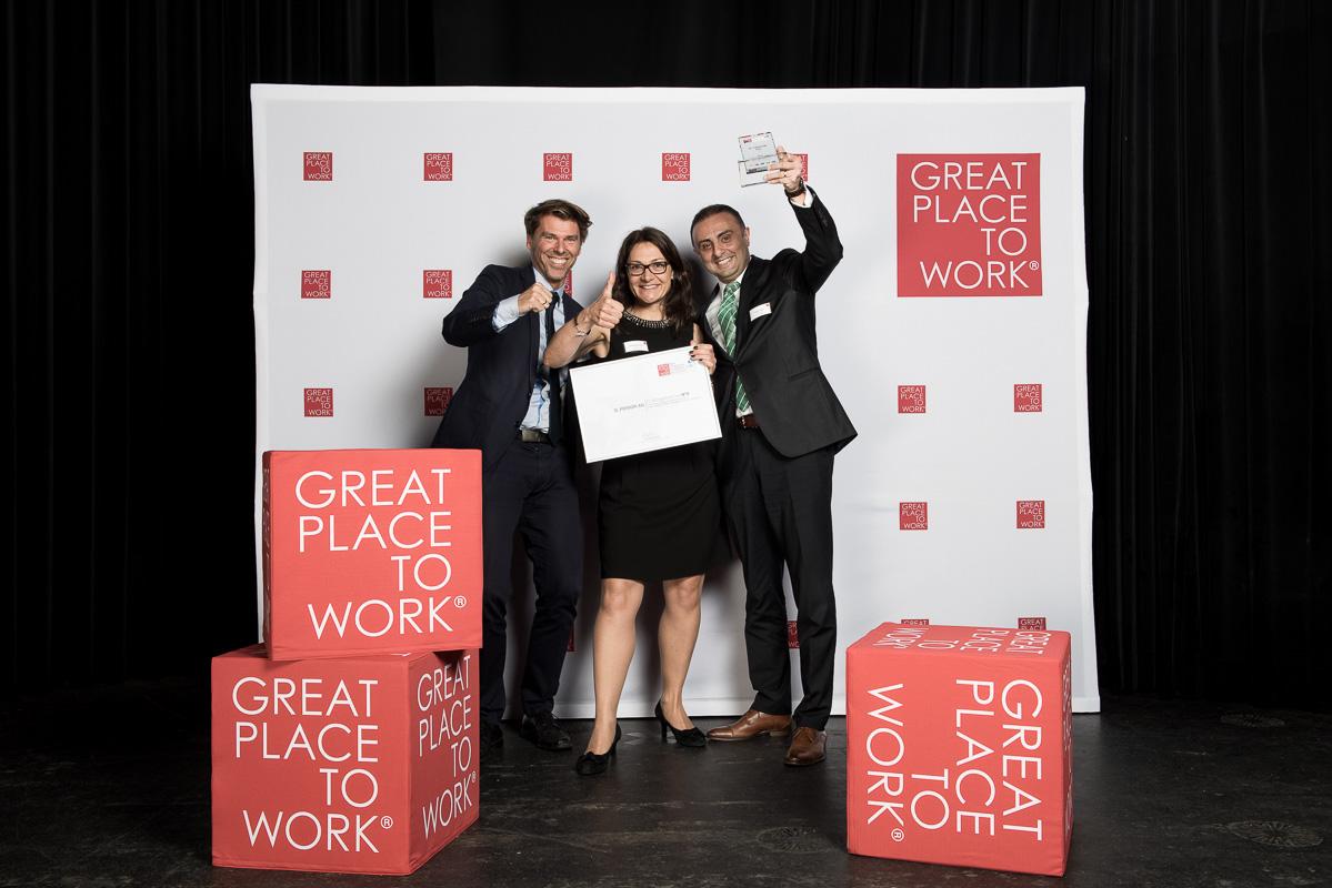 Q_PERIOR wurde in der Schweiz zum wiederholten Mal zum Great Place to Work ausgezeichnet