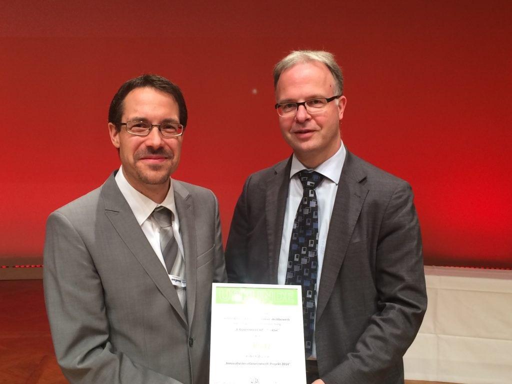 """Preisverleihung zur Auszeichnung """"Innovatives E-Government-Projekt"""""""