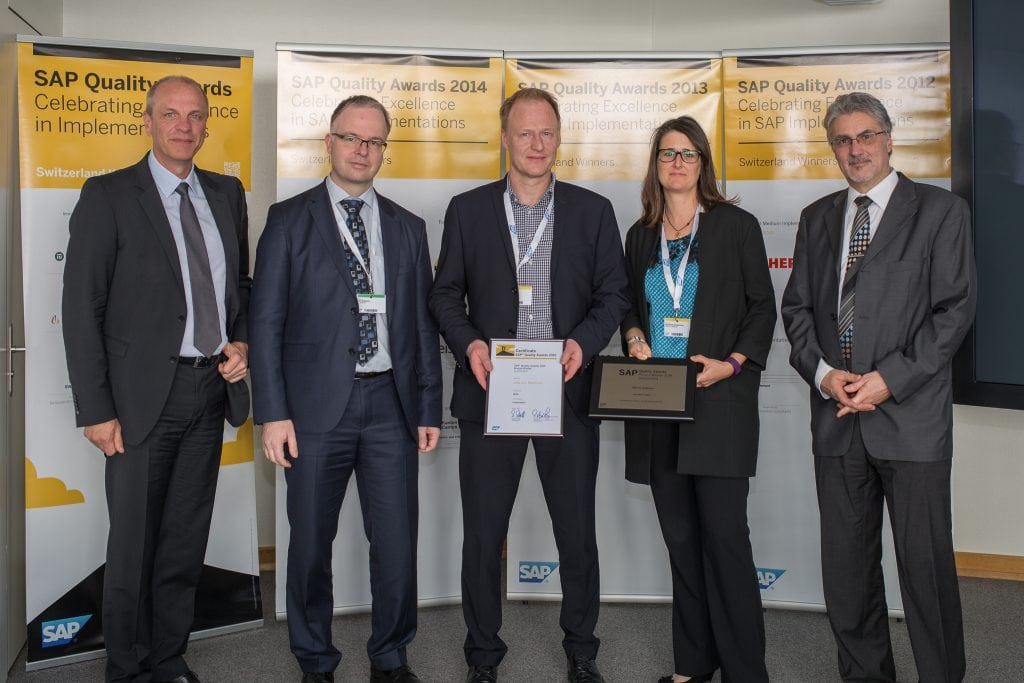Verleihung des SAP Quality Awards an den Q_PERIOR Kunden SBB