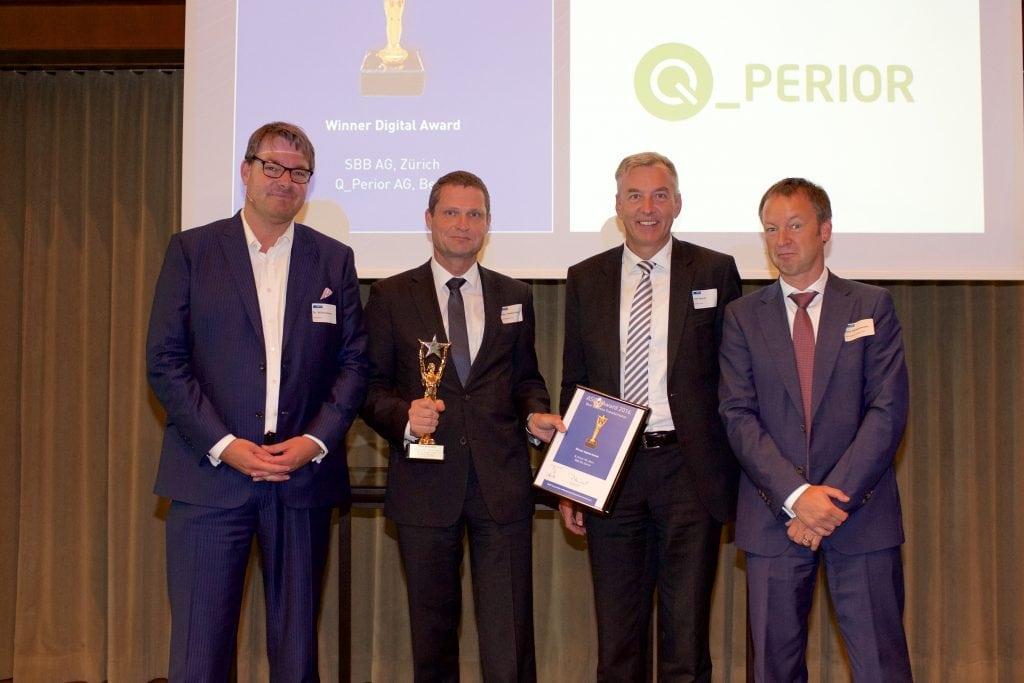 SAP und ASCO zeichnen Q_PERIOR für Digitalisierungsprojekt bei SBB aus