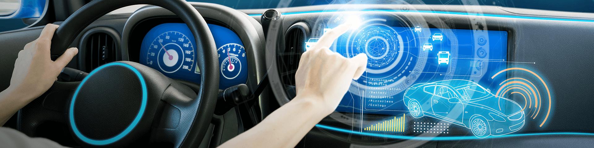 Auto digital Knopfdruck