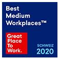 Great Place to Work - Auszeichnung Schweiz 2020